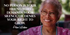 Reloaded twaddle – RT @Jestepar: No person is your friend who demands your silence, or denies your ...