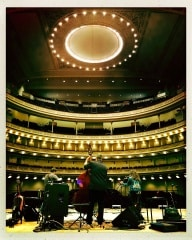 @masterpiano – Reloaded twaddle  RT @NickelCreek: Not a bad view! Soundcheck for tonight's @carnegie...