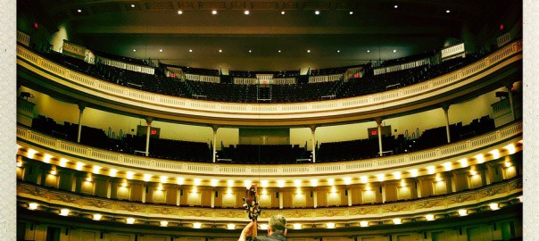 @NickelCreek  Follow Not a bad view! Soundcheck for tonight's @carnegiehall show with @punchbrothers. 📷: @Eric_Mayers