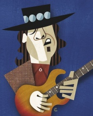 Reloaded twaddle – RT @davidhcowles: Born today #StevieRayVaughan #caricature #illustration https:/...